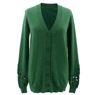 Ermanno Scervino Green Knitted Cardigan