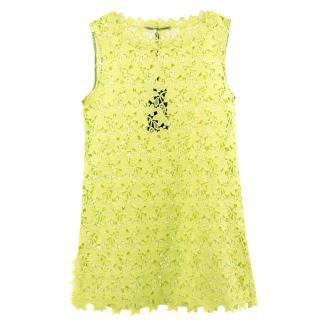 Ermanno Scervino Crochet Floral Dress Tunic