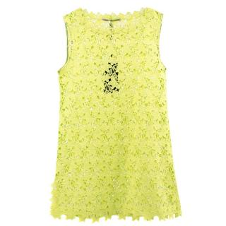 Ermanno Scervino Crochet Floral Dress Tunic
