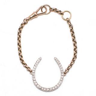 Anoushka Oversized Diamond  Horse Shoe Bracelet