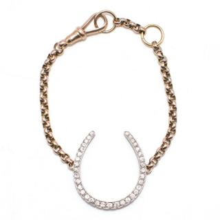 Anoushka Oversized Diamond  Horse Shoe Bracelet