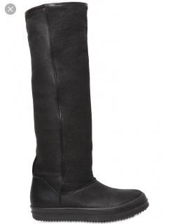 Rick Owens Shearling Tall Boots