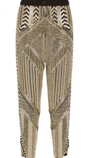 Emilio Pucci Heavily Embellished Gold Trousers
