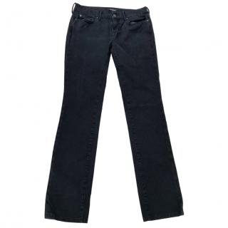 7 For All Mankind Dark blue straight leg  jeans