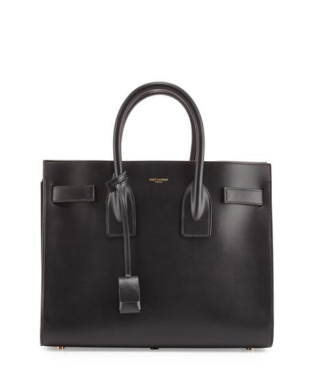 Saint Laurent Sac De Jour Small Carryall Bag Black Fuchsia  0b3b68317e8f6