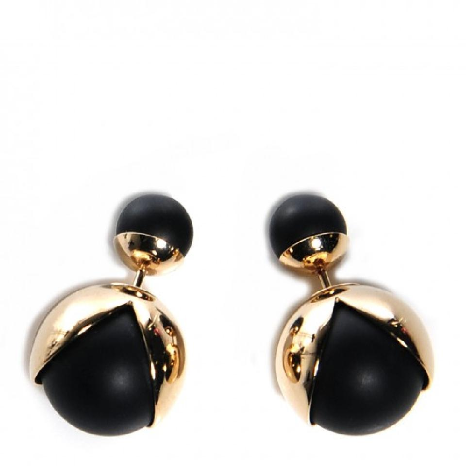Dior Matte Black and Gold  Mise En Dior Tribales Earrings