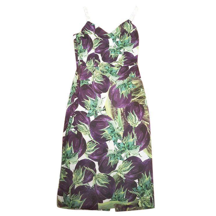 6cb36580 Dolce And Gabbana Aubergine Print Dress | HEWI London
