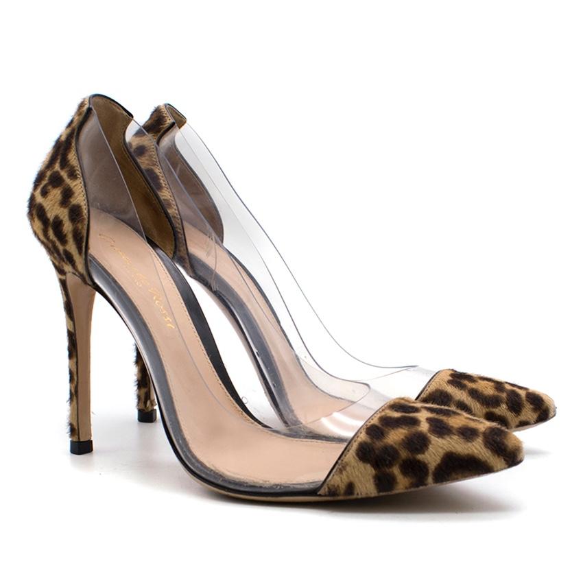 Gianvito Rossi leopard print calf hair heels