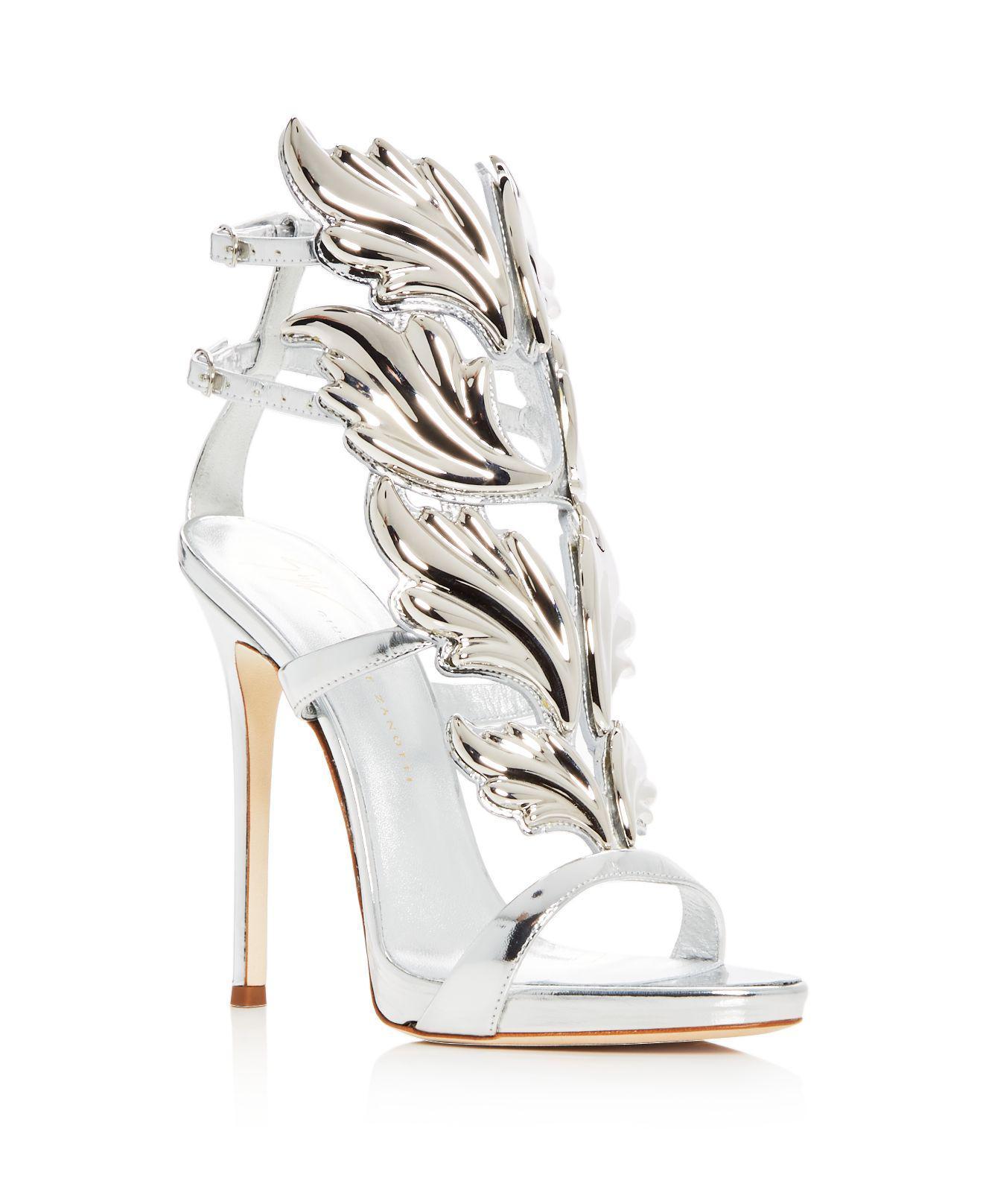ec632959d7c26 Giuseppe Zanotti Coline Cruel Wing Embellished Patent Sandals | HEWI London