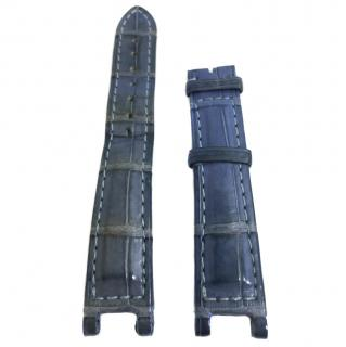 Cartier Blue Exotic Skin Watch Strap