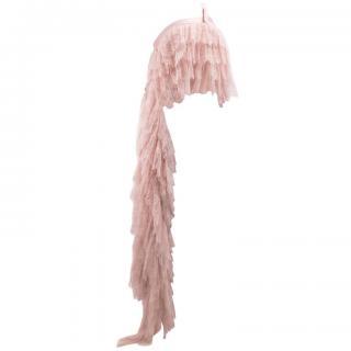 Alexander McQueen blush pink silk lace top