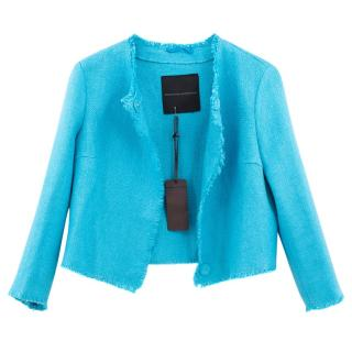 Ermanno Scervino blue cropped jacket