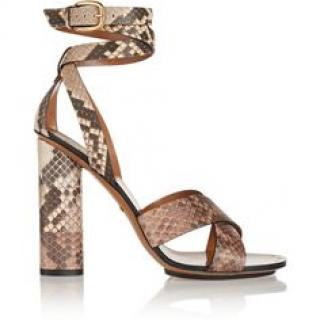 Gucci Python Block Heeled Sandals