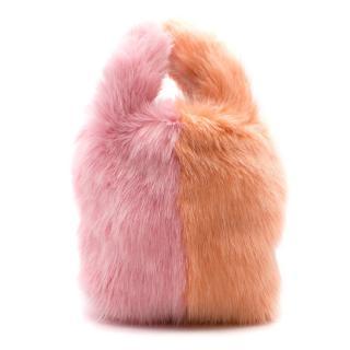 Charlotte Simone Pink Faux Fur Bag