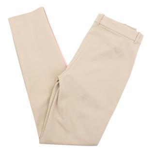 Versace beige cotton blend trousers