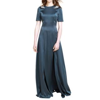 Beulah Genevieve Satin Embellished Gown