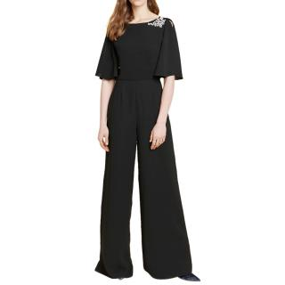 Beulah Black Embellished Jumpsuit