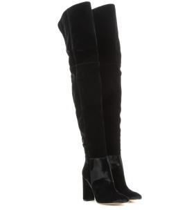 Gianvito Rossi Over-the-knee velvet boots