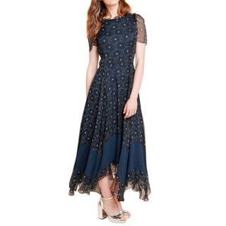Beulah Navy Printed Dress
