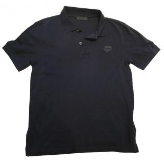 Prada Navy Polo Shirt Medium RRP �210