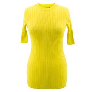 Louis Vuitton yellow cotton blend knitted top