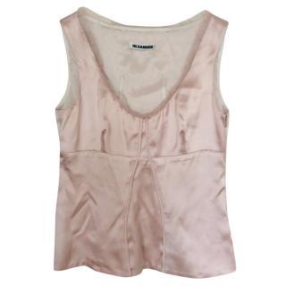 Jill Sander Soft Pink Silk Top
