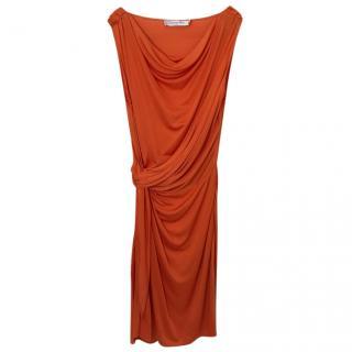 Christian Dior Orange Dress