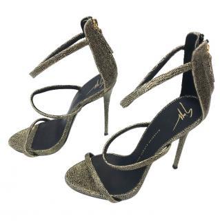 Giuseppe Zanoti Gold Heeled Sandals