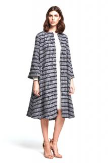 Beulah Blue Tweed Swing Coat