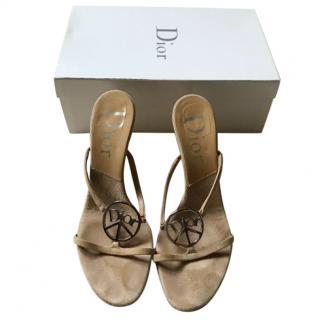 Dior logo slip on heels