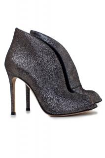 Gianvito Rossi Metallic Leather Vamp Shoes