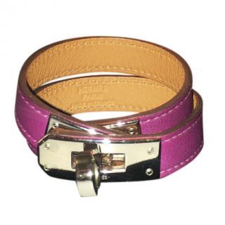 Hermes Ultra Violet Kelly Double Tour leather bracelet