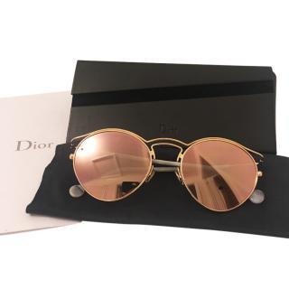 Dior rose gold mirrored sunglasses