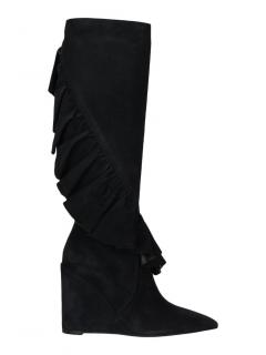 J.W. Anderson knee high suede ruffle boots
