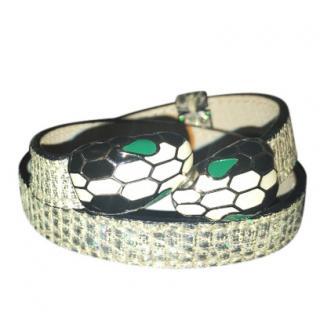Bvlgari Serpenti leather bracelet