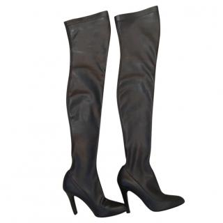 Stella McCartney Black Thigh  Boots