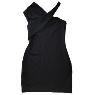 Halston Heritage black dress with cross over