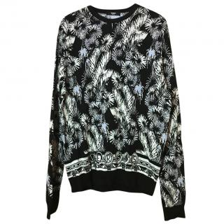 Versus Versace Black And White Sweater