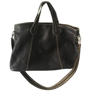 Tod's black leather shoulder bag