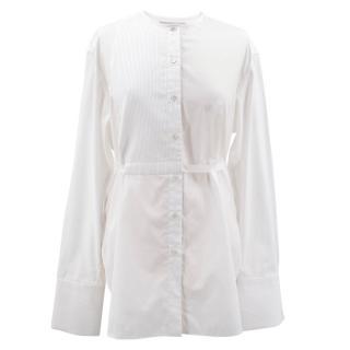 Palmer Harding white oversized cotton blend shirt