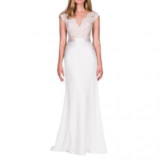Suzanne Neville Portrait 2017 wedding dress with illusion back