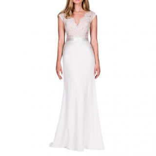 Suzanne Neville Portrait wedding dress with illusion back
