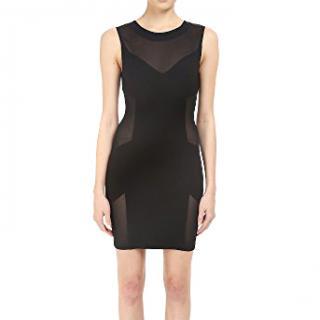 Pierre Balmain black mesh dress
