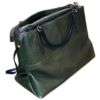Coach large Borough dark moss green leather bag