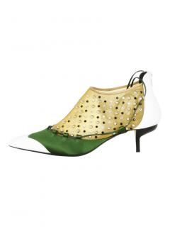 J.W. Anderson Strass mesh kitten heels