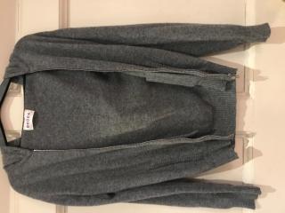 Brora Cashmere Grey Zip Hoody