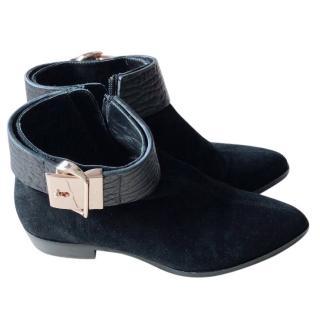 Giuseppe Zanotti gold buckle boots