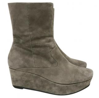 Robert Clergerie Taupe Suede Boots