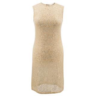 Celia Kritharioti Haute Couture gold sequin dress