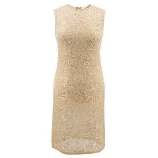 Celia Kritharioti Haute Couture gold sequin dress